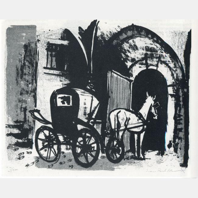 """Jean-Paul Schmitz """"Pferd mit Kutsche"""""""