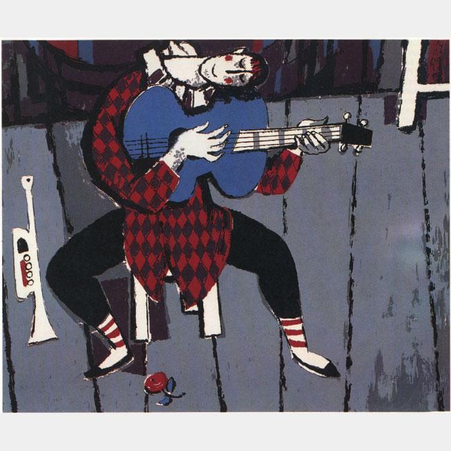 """Hans Sauerbruch """"Clown mit Gitarre"""""""